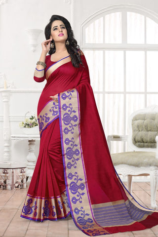 Maroon Color Banarasi Silk Saree - MAST-MAST1072