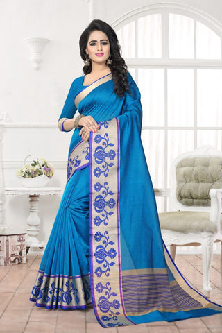 Blue Color Banarasi Silk Saree - MAST-MAST1073