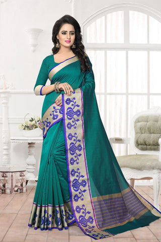 Rama Green Color Banarasi Silk Saree - MAST-MAST1074