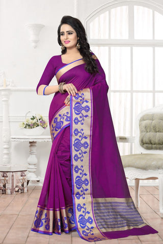 Purple Color Banarasi Silk Saree - MAST-MAST1075