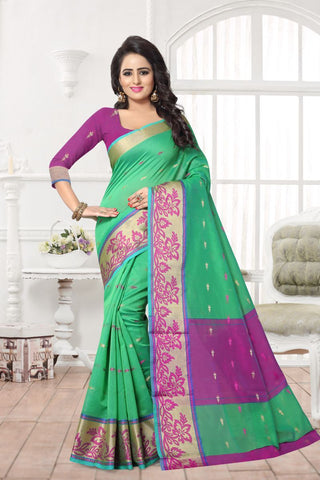 Green Color Banarasi Silk Saree - MAST-MAST1077
