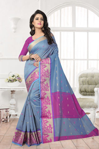 Grey Color Banarasi Silk Saree - MAST-MAST1078