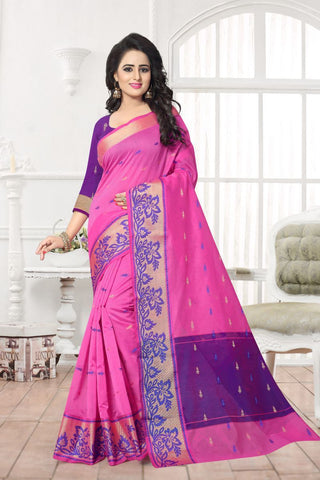 Pink Color Banarasi Silk Saree - MAST-MAST1079