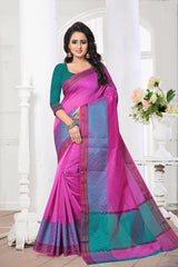 Pink Color Banarasi Silk Saree