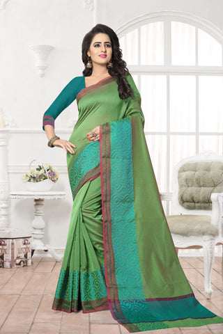 Green Color Banarasi Silk Saree - MAST-MAST1085