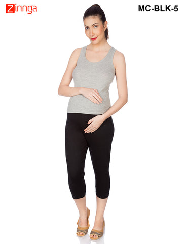 GOLDSTROMS-Women's Adjustable Maternity Pant - MC-BLK- 1