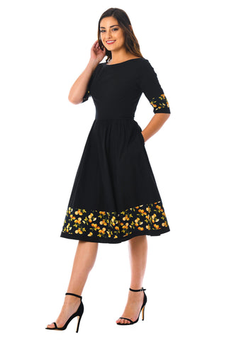Black Color Poly Rayon Cotton Semi Stitched Dress - MC-Black