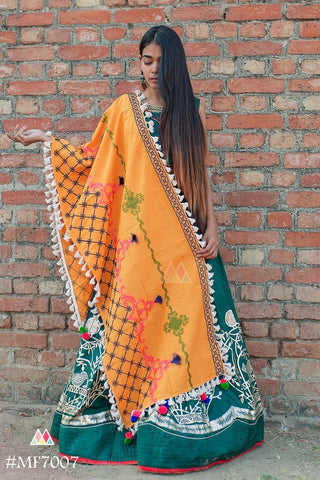 Mustard Color Khadi Dupatta - MF7007