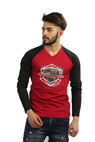 Maroon Color Cotton Mens Tshirt - MG-1002-MAROON