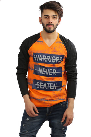 Orange Color Cotton Mens Tshirt - MG-1002-ORANGE