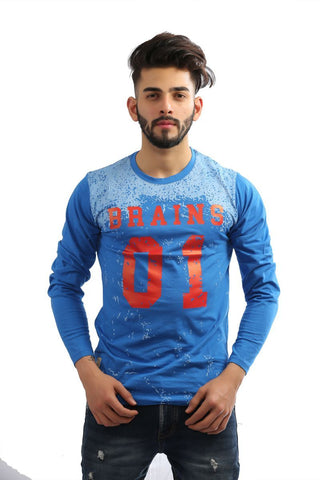 Royal Blue Color Cotton Mens Tshirt - MG-1003-ROYALBLUE