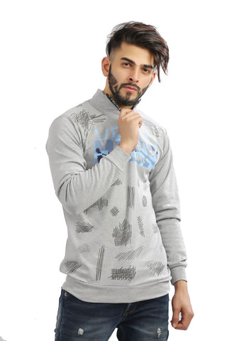 Ice Grey Color Cotton Mens Tshirt - MG-1004-ICEGREY