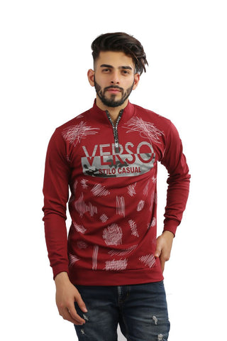 Maroon Color Cotton Mens Tshirt - MG-1004-MAROON