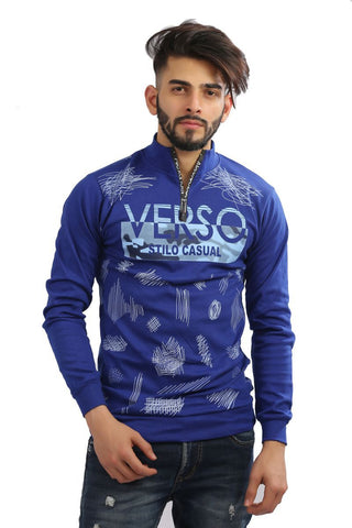 Royal Blue Color Cotton Mens Tshirt - MG-1004-ROYALBLUE