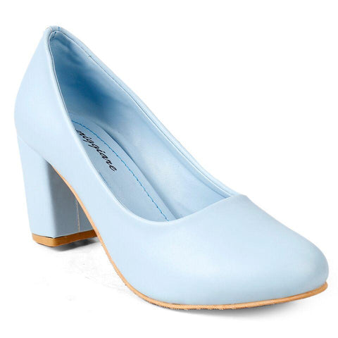 MERIGGIARE Sky Blue Color Synthetic Women Heels - MGFH4046B