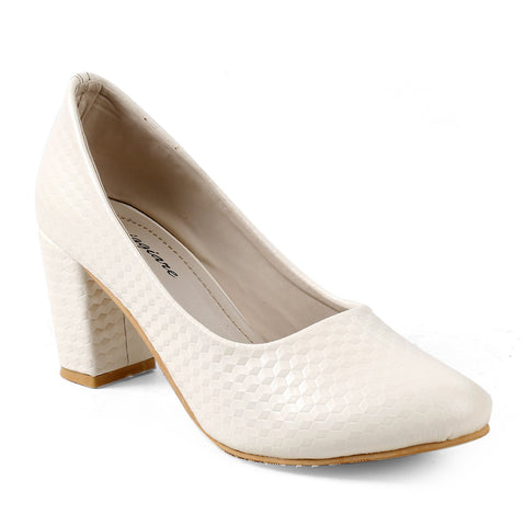 MERIGGIARE Cream Color Synthetic Women Heels - MGFH4048E