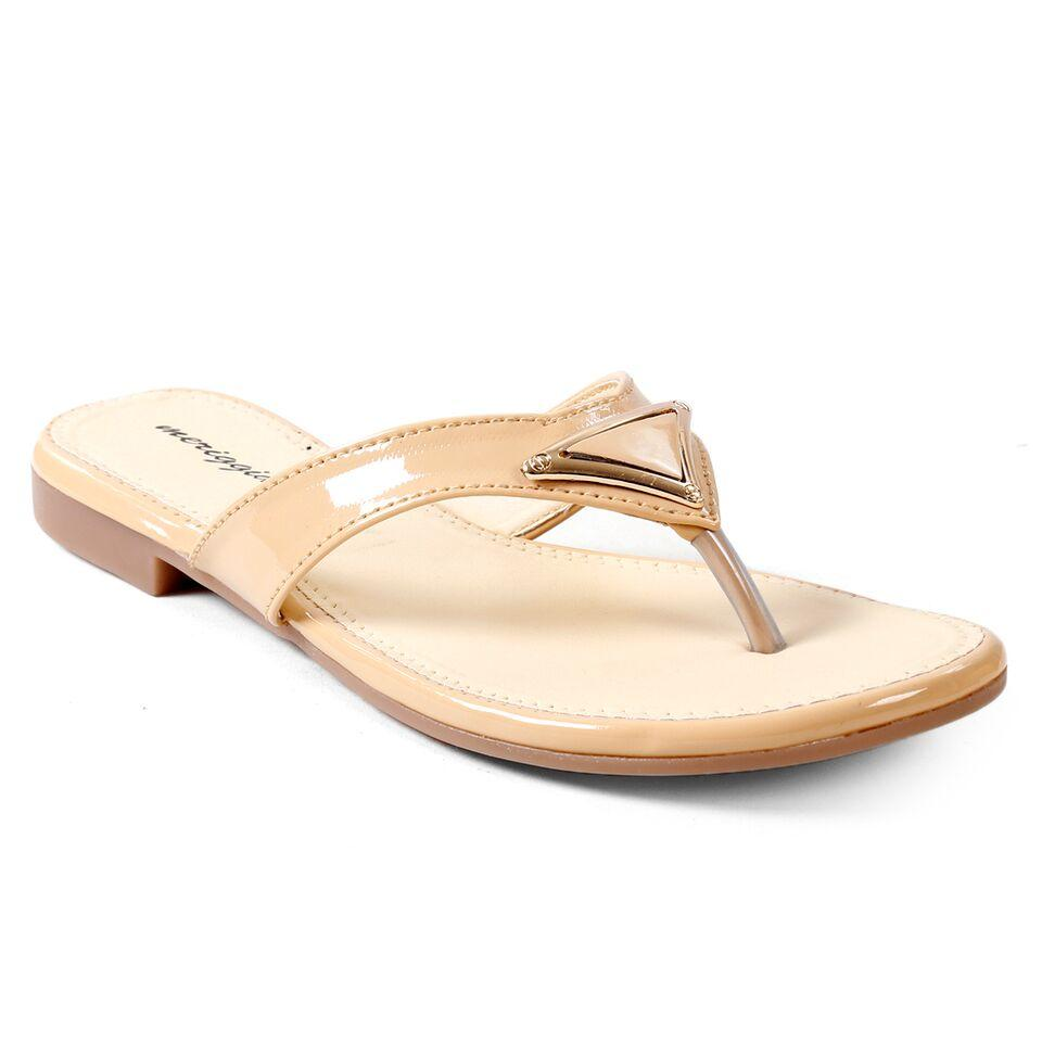 Buy  MARIGGIARE Nude Color Synthetic Leather Women Flat Sandals