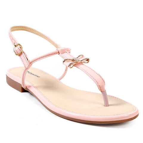 MERIGGIARE Pink Color Synthetic Leather Women Flat Sandals - MGFJ5128S