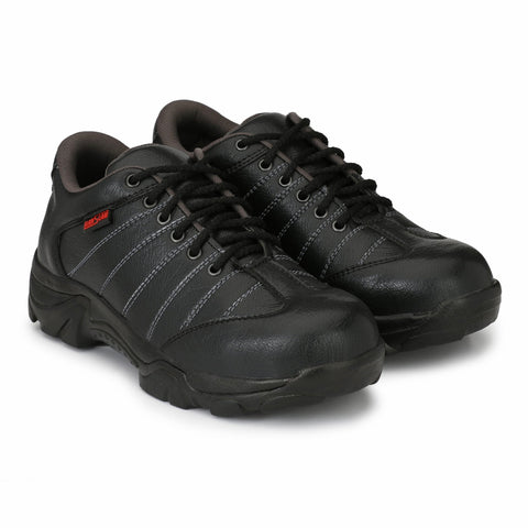 Black And Grey Color Synthetic Men's Shoe - MLM01-BlackGrey