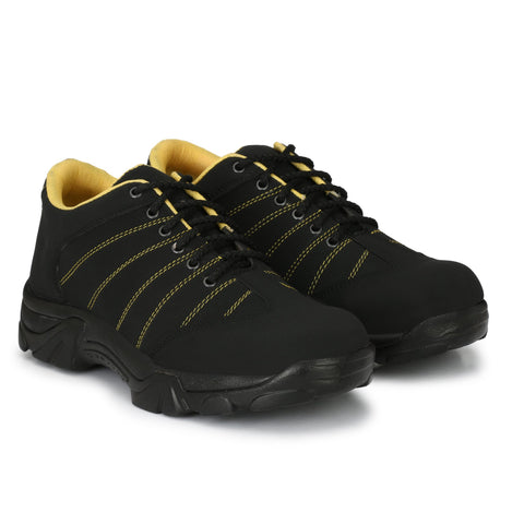 Black Color Synthetic Men's Shoe - MLM01-Black