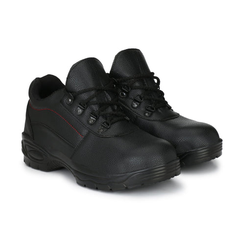 Black Color Synthetic Men's Shoe - MLM04-Black