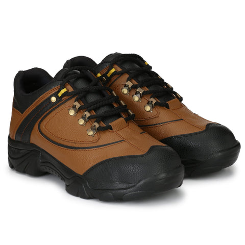 Tan Color Synthetic Men's Shoe - MLM08-Tan