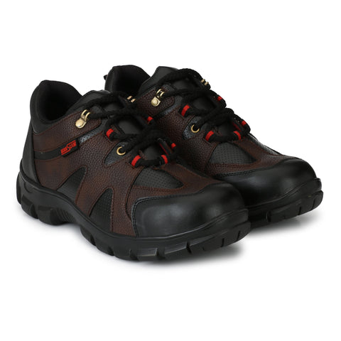 Brown Color Synthetic Men's Shoe - MLM21-Brown