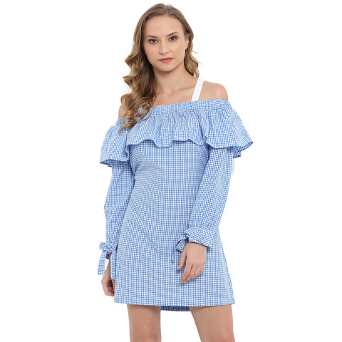 Blue Color Rayon Women's Top - MMD010