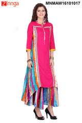 Multi Color Rayon Stitched Kurti