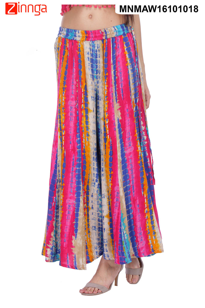 MULTI COLOR RAYON PLAZO