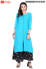 Multi Color Flex Rayon Stitched Kurti