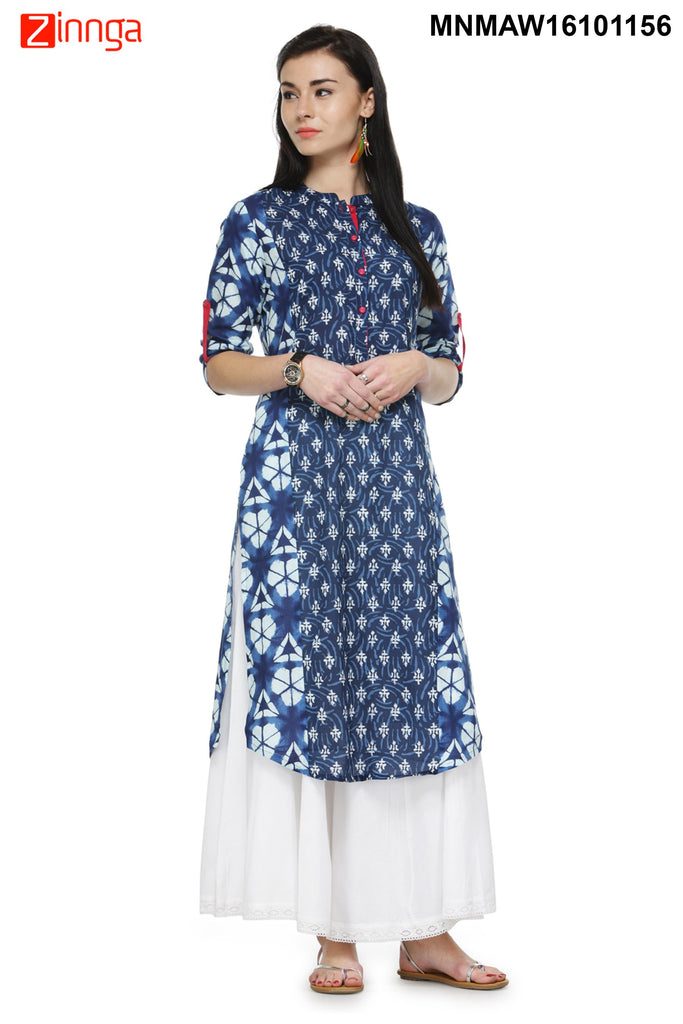 Multi Color Cotton   Stitched Kurti