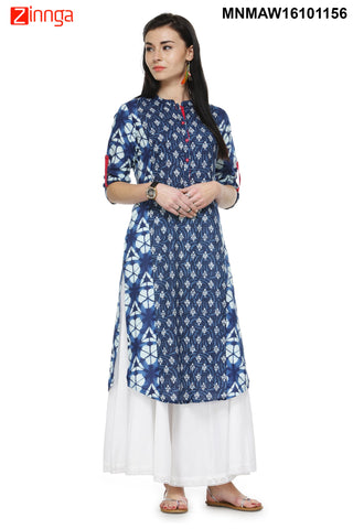 Multi Color Cotton   Stitched Kurti - MNMAW16101156