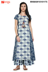 Multi Color Cotton Flex Stitched Kurti