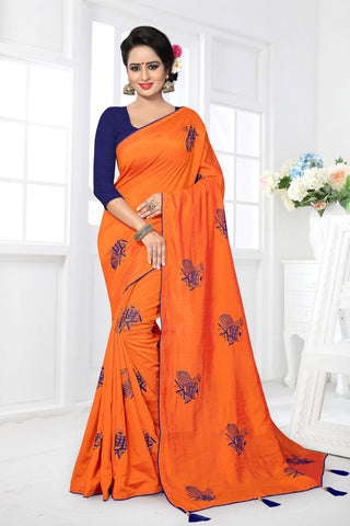 Orange Color Zoya Silk Saree - MONTHAN-1118