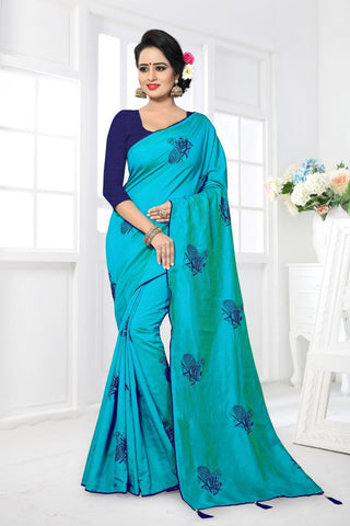 Blue Color Zoya Silk Saree - MONTHAN-1120
