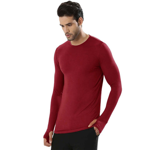 Maroon Color Cotton Men's Tshirt - MP-MAROON