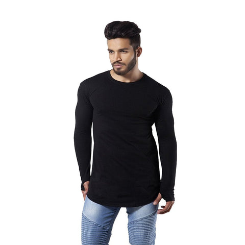 Black Color Cotton Men's Tshirt - MPBLACK-01