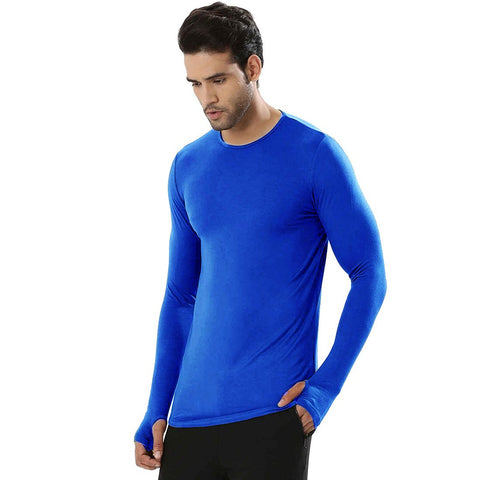 Blue Color Cotton Men's Tshirt - MPBLUE-01