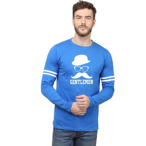 Blue Color Cotton Men's Tshirt - MPBU