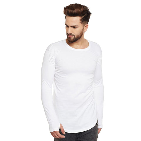White Color Cotton Men's Tshirt - MPWHITE-01