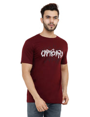 Buy Maroon Color Cotton Mens Tshirt