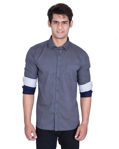 Navy Blue Color Cotton Shirt - MRNY07