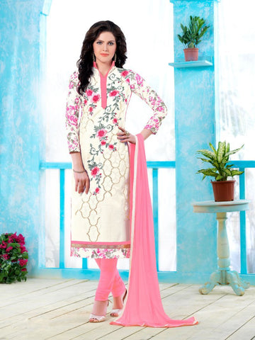 White Color Pure Heavy Glass Cotton UnStitched Salwar - MT-1352