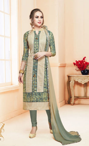 Multi Color Heavy Glass Cotton UnStitched Salwar - MT-1605