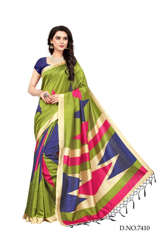 Multi Color Mysure Silk Saree - MT-1