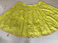 Lime Green Color Georgette Semi Stitched Lehenga - YOYO-124-15515
