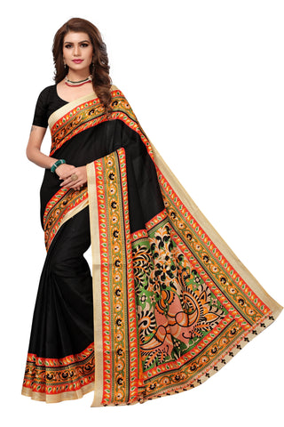 Black Color Khadi Silk Saree  - MUTA1484