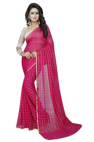 Pink Color Chiffon Women's Saree - MUTA1525