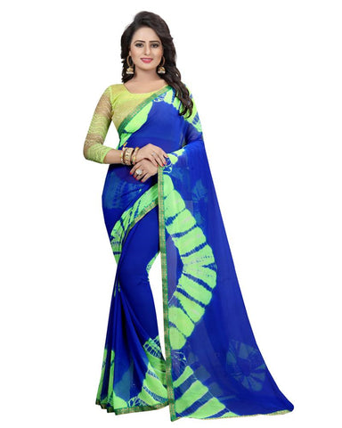 Green Color Chiffon Women's Saree - MUTA1580